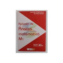 APLICATII DE ANALIZA MATEMATICA M1 , PENTRU CLASA A XI -A de INOCENTIU DRAGHICESCU si ILIE PETRE IAMBOR , 2003