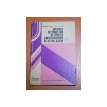 APLICATII SI PROBLEME DE STATICA CONSTRUCTIILOR SI BETON ARMAT de CONSTANTIN PAVEL , DUMITRU PETRE , Bucuresti 1982