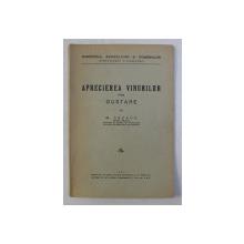 APRECIEREA VINURILOR PRIN GUSTARE de M . CAZACU , 1933