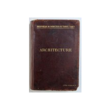 """ARCHITECTURE par ALBERT HEBRARD , COLLECTION """" BIBLIOTHEQUE DU CONDUCTEUR DE TRAVAUX PUBLICS """" , 1897"""