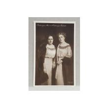 ARHIDUCESELE ALICE SI GABRIELE , CARTE POSTALA ILUSTRATA , MONOCROMA, NECIRCULATA , DATATA 1913