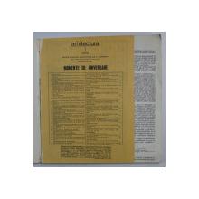 ' ARHITECTURA ' REVISTA UNIUNII ARHITECTILOR DIN R.S. ROMANIA , ANUL XXIX , NR. 4 -5 , 1981