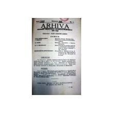 ARHIVA -ANUL 35 - IASI 1928