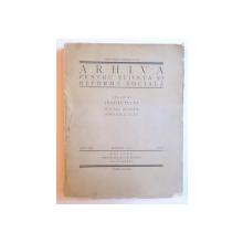 ARHIVA PENTRU STIINTA SI REFORMA SOCIALA ANUL VII NR. 3-4 / 1928