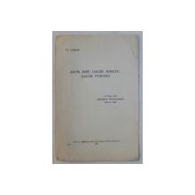 AROM , MIRE , DACOR , MIRISTE  - DACOR , PURUREA de TH . CAPIDAN , 1929