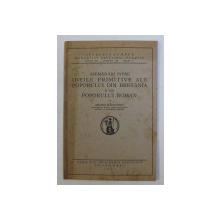 ASEMANARI INTRE IDEILE PRIMITIVE ALE POPORULUI DIN BRETANIA SI ALE POPORULUI ROMAN de ANDREI RADULESCU , 1931