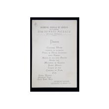 ATHENEE PALACE , MENIUL BANCHETULUI CORPULUI DE AVOCATI DAT IN ONOAREA DLUI . ISTRATE MICESCU , DECANUL BAROULUI , 24  MARTIE 1925