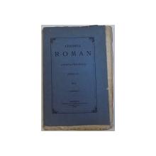 ATHENEUL ROMAN  - REVISTA PERIODICA , ANUL II , NR. I , 1868