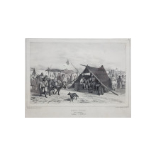AUGUSTE RAFFET (1804-1860) - Barbier tigan la targul din Giurgiu, 11 iulie 1837