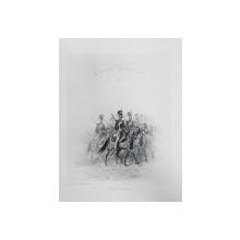 Auguste Raffet (1804-1860) - Calareti cazaci, litografie 1842