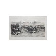 Auguste Raffet (1804-1860) - Infanterie Valaha defiland in pas alergator, 11 Iulie 1837