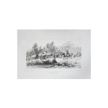 Auguste Raffet (1804-1860) - Stationarea unu convoi rus