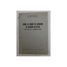 AURUL CA MIJLOC DE LICHIDARE AL BALANTEI DE PLATI - METALUL GALBEN CAUZA A DEZECHILIBRULUI ECONOMIC de VICTOR SCARLATESCU , 1936
