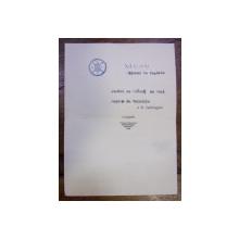 AUTOMOBIL CLUL REGAL ROMAN - MENIU DE 10 MAI DIN TIMPUL CELUI DE-AL DOILEA RAZBOI MONDIAL