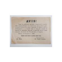 AVIZ AL PARTIDULUI NATIONAL - ROMAN ADRESAT ALEGATORILOR , 22 IANUARIE 1892