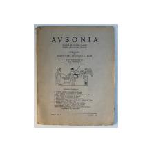 AVSONIA  - REVISTA DE CULTURA CLASICA PENTRU SCOLARI SI TINERET , ANUL I , NR. 5 - MARTIE 1940