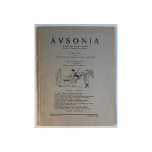 AVSONIA  - REVISTA DE CULTURA CLASICA PENTRU SCOLARI SI TINERET , ANUL II , NR. 4 - IANUARIE ,  1942