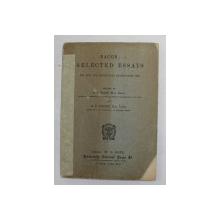 BACON - SELECTED ESSAYS , editied by A.F. WATT , 1908 , COTORUL INTARIT CU BANDA ADEZIVA