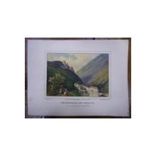 BAILE MEHADIA , COMPLEXUL DE TRATAMENT - CROMOLITOGRAFIE , JUMATATEA SECOLULUI AL XIX-LEA