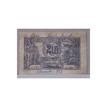 BANCNOTA 2 LEI , EMISA IN 1920 , CIRCULATA