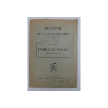 BASMELE LUI CREANGA - STUDIU de N . I. RUSSU , 1929