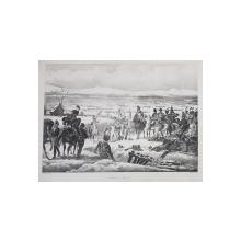 BATAILLE DE PULSTUCK ( BATALIA DE LA PULSTUCK) , LITOGRAFIE de C. MOTTE , MONOCROMA, MIJLOCUL SEC. XIX