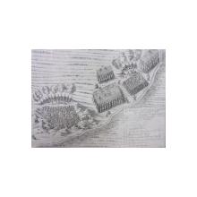 BATALIA DE LA ARAD  GRAVURA ORIGINALA 1672