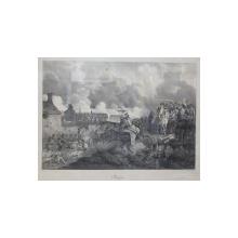 Napoleon Batalia de la Bautzen - Litografie de Hippolyte Bellangé