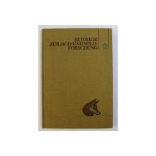 BEITRAGE ZUR JAGDUND WILDFORSCHUNG XII von HANS STUBBE , 1982 *SEMNATURA
