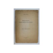 BIBIOGRAFIA FOLKLORULUI ROMANESC de MIRCEA TOMESCU , 1947 , DEDICATIE *