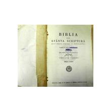 BIBLIA SAU SAU SFANTA SCRIPTURA DUPA TEXTUL GRECESC AL  SEPTUAGINTEI