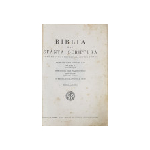 BIBLIA SAU SFANTA SCRIPTURA DUPA TEXTUL GRECESC  AL SEPTUAGINTEI , TIPARITA IN ZILELE MAJESTATII SALE MIHAI I , PRIN OSARDIA INALT PREASFINTITULUI NICODIM , EDITIA A DOUA , 1944 * PAGINILE 769 /770 CU LIPSURI *