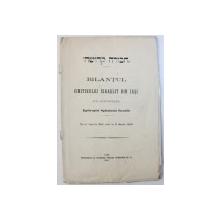 BILANTUL CIMITIRULUI ISRAELIT DIN IASI SUB AMINISTRATIA EPITROPIEI SPITALULUI ISRAELIT DE LA 1 APTRILIE 1905 PANA LA 31 MARTIE 1906 , 1906