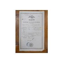 Bilet de exportatia cerealelor din Romania, Jivani Balzamac, Oltenita 1858