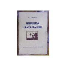 BIRUINTA CERCETASULUI de ION SIMIONESCU (1932)