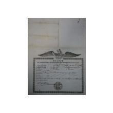 Braila, bilet de export cereale pentru negustorul Iosif David catre kir Asan din Turcia, 1847
