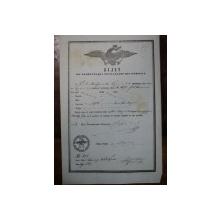Braila, bilet de export  cereale pentru negustorul K. N. Mastrapa, 1855