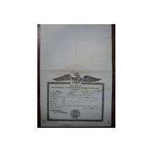 Braila, bilet pentru exportul produselor din Valahia pe numele fratilor Mitreli 1847