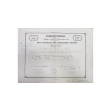 BREVET DE CAPACITE POUR L 'ENSEIGNEMENT PRIMAIRE  - SECOND ORDRE , ACADEMIE DE NANCY , A MADAME LORENZ MATHILDE , 1882