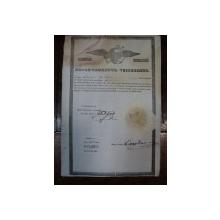 Brevet de mester din corporatia croitorilor pe numele Iordanescu 1846