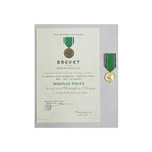Brevet si Medalia Peles, 1933