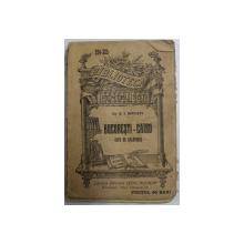 BUCURESTI - CAIRO , NOTE DE CALATORIE de DR. C.I. ISTRATI , 1907, NECESITA RELEGARE