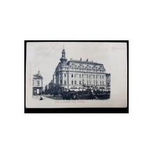 Bucuresti. Hotel Continental, Piata Teatrului - Carte postala Clasica
