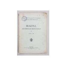 BUGETUL ASEZAMINTELOR BRANCOVENESTI PE ANUL 1915 , APARUTA 1915 , COPERTA SPATE CU DESENE IN TUS SI CREION *