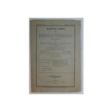 BULETIN DE LA SOCIETE DES MEDECINS ET NATURALISTES DE JASSY , XXIV - eme Annee , JANVIER , FEVRIER , 1910