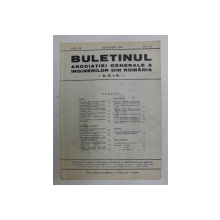 BULETINUL ASCOIATIEI GENERALE A INGINERILOR DIN ROMANIA - A.G.I.R. , ANUL XXI , NR. 7-8 , IULIE - AUGUST ,  1939