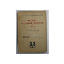 BULETINUL COLEGIILOR MEDICILOR DIN ROMANIA , ANUL II  , NR. 1- 3 , SEPTEMBRIE 1939