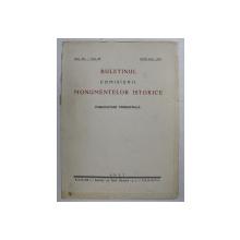 BULETINUL COMISIUNII MONUMENTELOR ISTORICE - PUBLICATIUNE TRIMESTRIALA , ANUL XX - FASC. 52 , APRILIE - IUNIE - 1927
