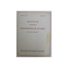 BULETINUL COMISIUNII MONUMENTELOR ISTORICE  - PUBLICATIUNE TRIMESTRIALA , ANUL XXX , FASC. 92 , APRILIE - IUNIE , 1937