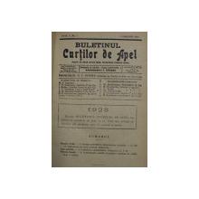 BULETINUL CURTILOR DE APEL , REVISTA DE DREPT , ANUL V , COLEGAT DE 20 DE NUMERE SUCCESIVE APARUTE INTRE 1 IANUARIE SI 15 DECEMBRIE 1928